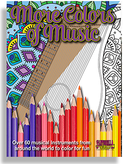 More Colors Of Music Middle School To Adult Coloring Book