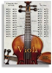 Instrumental Fingering Poster for Viola