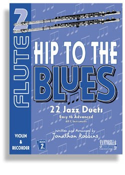 Hip To The Blues/Jazz Duets - Flute Book 2 with CD