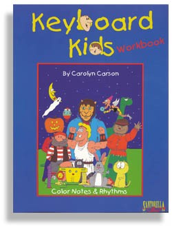 Keyboard Kids Color Notes & Rhythms Workbook
