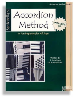 Santorella's Accordion Method Book 2 with CD