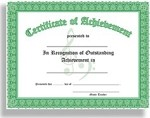 Certificate of Outstanding Achievement - 10 Certificates per package