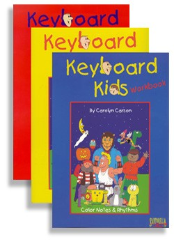 Keyboard Kids Complete Piano Method by Carolyn Carson includes all three books in the series.
