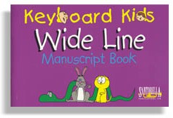 Keyboard Kids 4 Stave Wide Line Manuscript